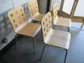 SET OF FOUR IKEA JULES STACKING DINING / OFFICE CHAIRS FREE DELIVERY