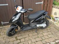 15 plate Piaggio typhoon moped