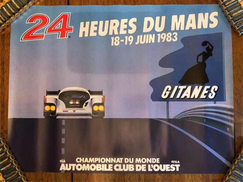 ORIGINAL 1983 LE MANS 24 HOURS HEURES DU MANS RACE POSTER RARE