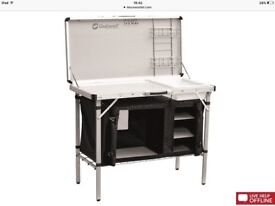 Outwell camping kitchen unit with sink