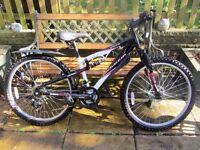 "Girls/Ladies Apollo Firecracker Mountain Bike with Accessories, 14""Frame, 26"" Wheels"