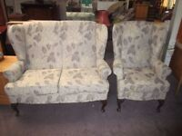 Old Style Sofa + Chair For Sale