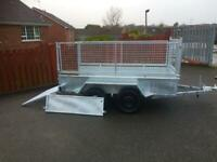Trailer galvanised 8x4 with mesh
