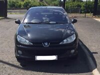 03 Black Peugeot 206cc convertible