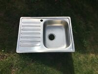Stainless steel kitchen/utility sink