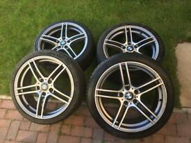 4x Genuine BMW M Sport Diamond Cut Alloys with Tyres.