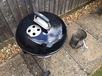 Weber 47cm Compact Kettle + Chimney starter + leftover charcoal