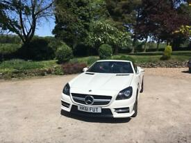 2012 white Mercedes Benz SLK200 blue sport-ciency 7G Tronic Low Miles FMBSH