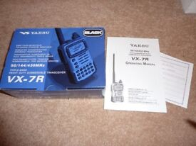 Yaesu VX-7R triple band transceiver