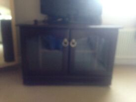 TV unit - mahogany great condition