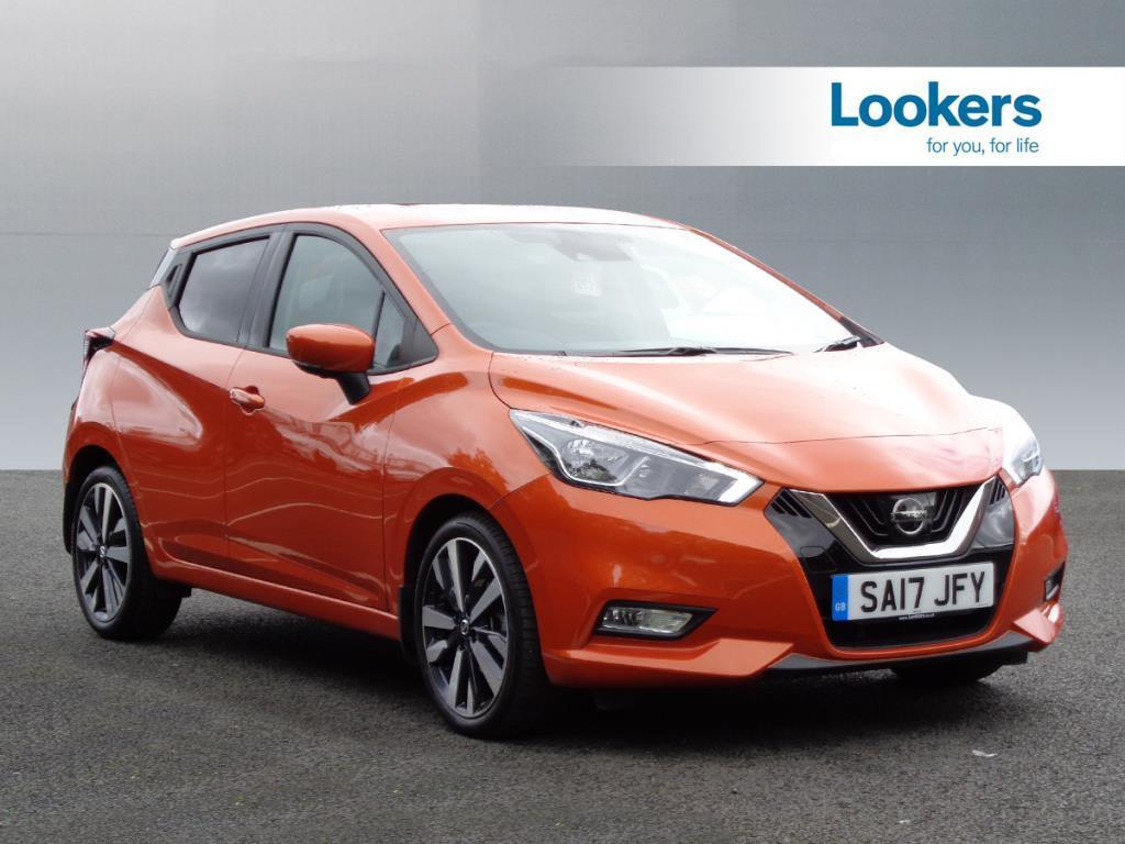 nissan micra dci tekna  orange  2017