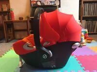 Cybex Aton Q Platinum car seat Group 0+, 0 - 13kg, 0 to 18m, excellent condition