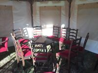 PUB OR BAR, 10 X DINING CHAIRS AND 1 X PUB TABLE. EXCELLENT CONDITION.