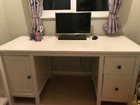 IKEA Hemnes white desk 155 x 65 cm