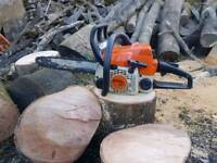 STIHL MS 017 / 170 PETROL CHAINSAW 13'' BAR - RUNS AND CUTS PERFECT (SOLD PENDING COLLECTION)