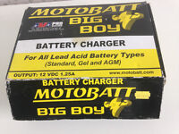 12 V Motor Bike, Motor Car, Jet Ski--Motobatt big boy intelligent battery Charger and optimizer