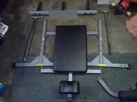 Powerline vertical leg press machine for olympic or standard weights