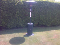 Large patio heater with gas bottle