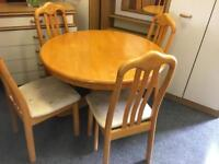 Table and 4 chairs can deliver
