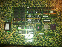 Job lot of old ram's and cpu's