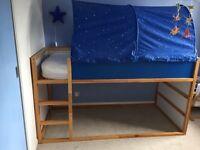 Ikea Kura loft/cabin single bed with tent good condition
