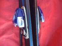 Merlin skis x 2 with carry case
