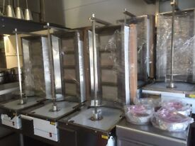 NEW GAS 4 BURNER DONER KEBAB SHAWARMA GRILL MACHINE CAFE BBQ CHICKEN RESTAURANT KITCHEN BAR SHOP