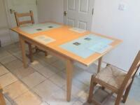 Beech Wood effect and glass Extendable dining table £75 ONO