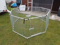Large 8 section portable dog enclosure/cage
