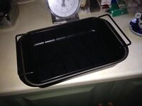 Le Creuset Roasting Dish with Cradle.