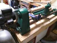 A Record Wood Working Lathe