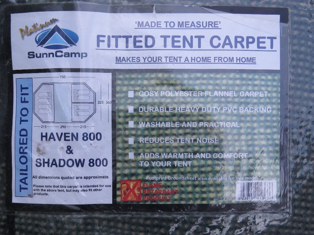 Sunncamp Fitted Carpet For Shadow 800 Tent In Great