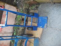 2x porter trolleys ideal for moving heavy stuff both with pumped up wheels