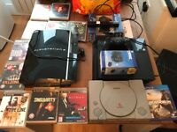 PS4 PS3 and PS1 plus games and controllers
