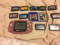 Gameboy advance with 12 games