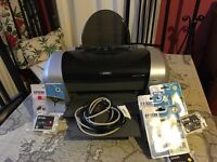 Epson Stylus C84 printer with cables + 7 cartridges
