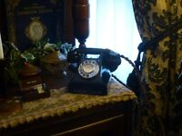 Vintage telephone GPO 300 Series from 1937-1959 and converted for UK use, see listing for details.