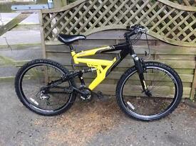Raleigh jirra full suspension mountain bike