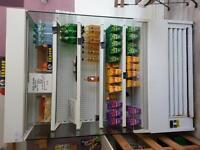 large white commercial display fridge