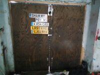 Barn style garage door