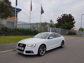 Audi A5 Black Edition White stunning car mint condition looks and drives like new