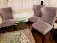 3 velvet chair