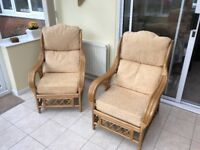 4 piece Conservatory Furniture Set - 2 chairs, sofa and table. Excellent condition.