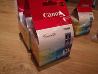 Canon Pixma (38) Colour ink Cartridge x 3