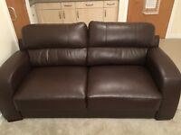 High quality brown leather 3 and 2 seater. £250 or nearest offer for quick sale.