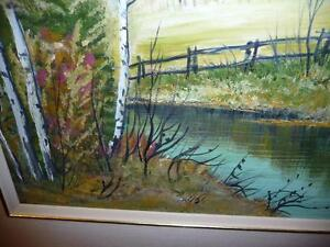 "L. M. Spears ""Country Scene"" Oil Painting Stratford Kitchener Area image 4"