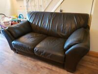 DFS Italitan leather sofa