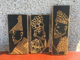 Wooden African Type Prints