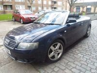 AUDI A4 CABRIOLET 1.8T SPORT *** AUTOMATIC *** LEATHER *** SERVICE HISTORY *** ONLY 2495