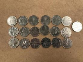 £2 and 50p coin collection
